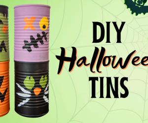 DIY Halloween Tins